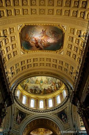Frescos en cupula y boveda, Basilica de Maria Auxiliadora, Turin