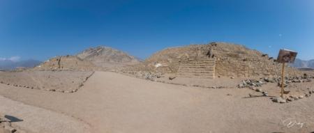 DSC_9640-Pano ciudad sagrada de Caral, panoramica, piramide