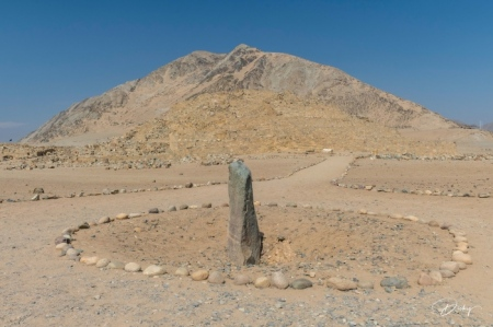 DSC_1507 ciudad sagrada de Caral, Huanca del Caral, monolito