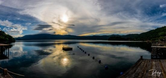 DSC_4582-Pano Atardecer, Lago de Coatepeque, panoramica.