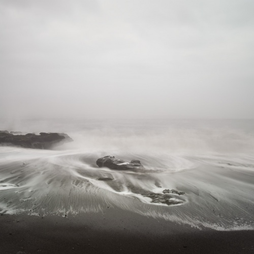 """ playa negra en dia de niebla "".-black beach on foggy day ""-. 2018"