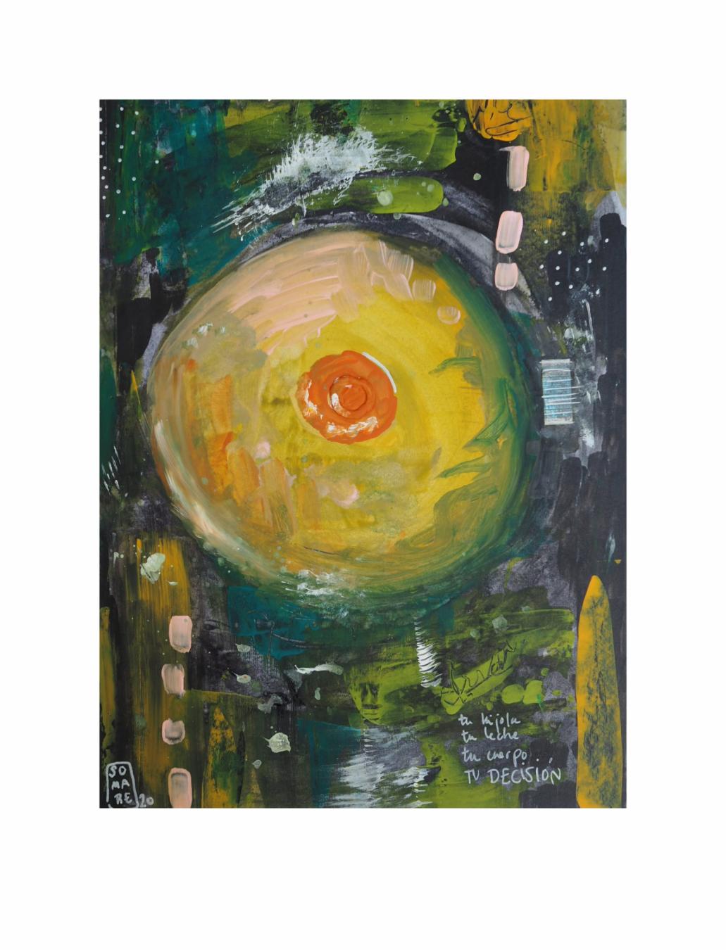 "LACTANCIA. Serie ""Maternaje"" 21 x 29,7cm Acrílico sobre papel.Obra única - Maternaje - mARTEnidades"