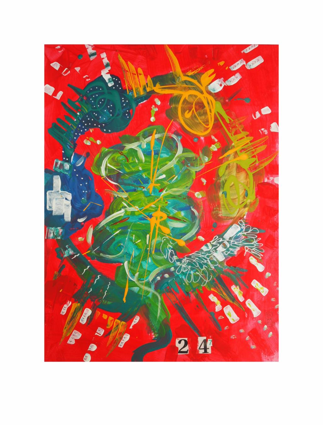 """CONCILIA 24-7. Serie """"Maternaje"""" 21 x 29,7cm Acrílico sobre papel. Obra única - Maternaje - mARTEnidades"""