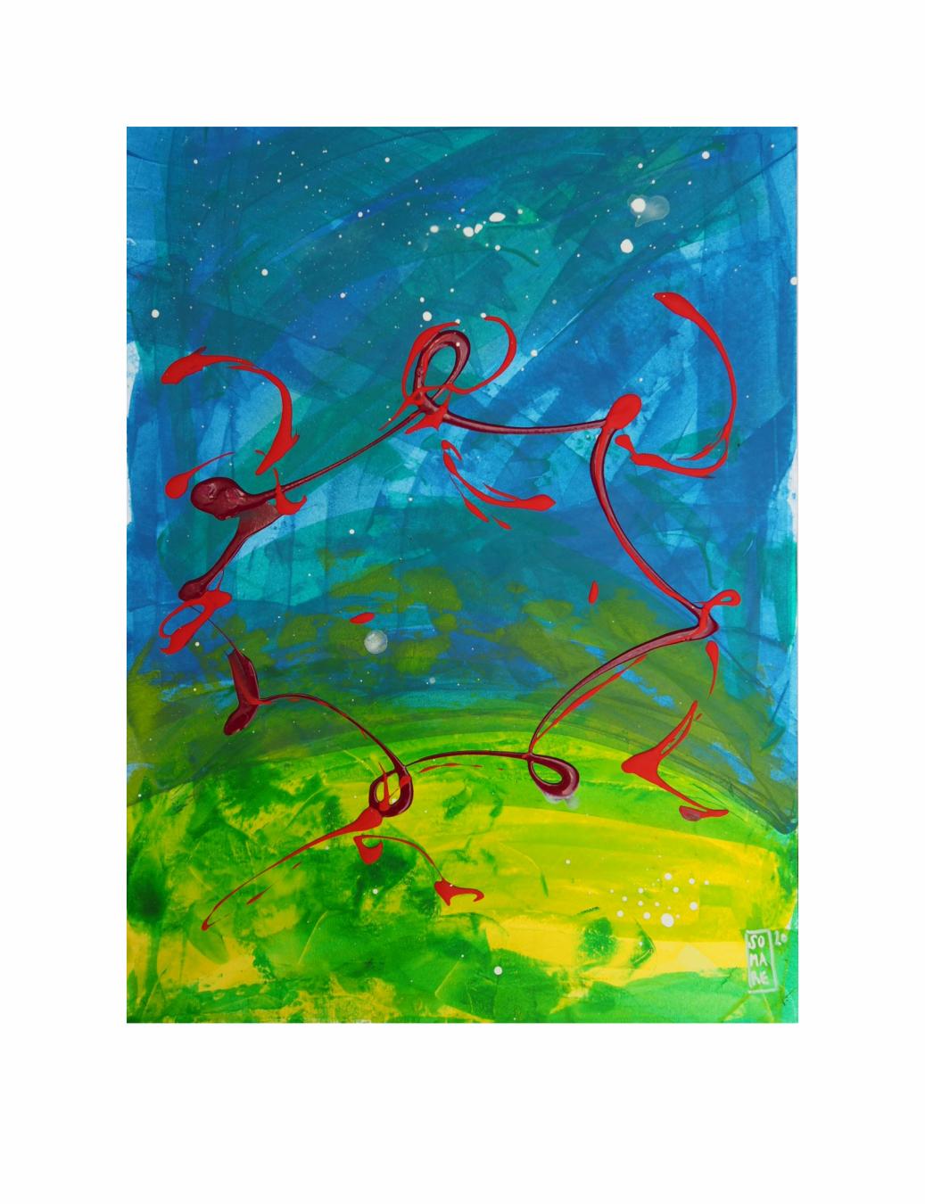 """SORORIDAD. Serie """"Maternaje"""" 21 x 29,7cm Acrílico sobre papel. Obra única - Maternaje - mARTEnidades"""
