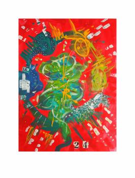 """CONCILIA 24-7. Serie """"Maternaje"""" 21 x 29,7cm Acrílico sobre papel. Obra única"""