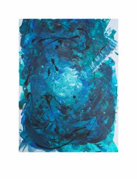 """BLUE NOTE. Serie """"Maternaje"""" 21 x 29,7cm Acrílico sobre papel.Obra única"""