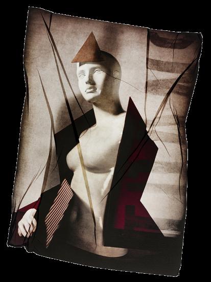 transferencia de emulsion de maniqui con triangulo en la cabeza