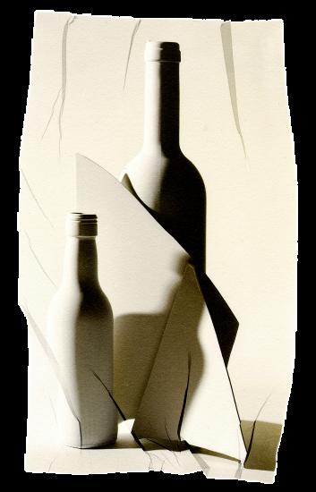 transferencia de emulsion de cristal entre dos botellas