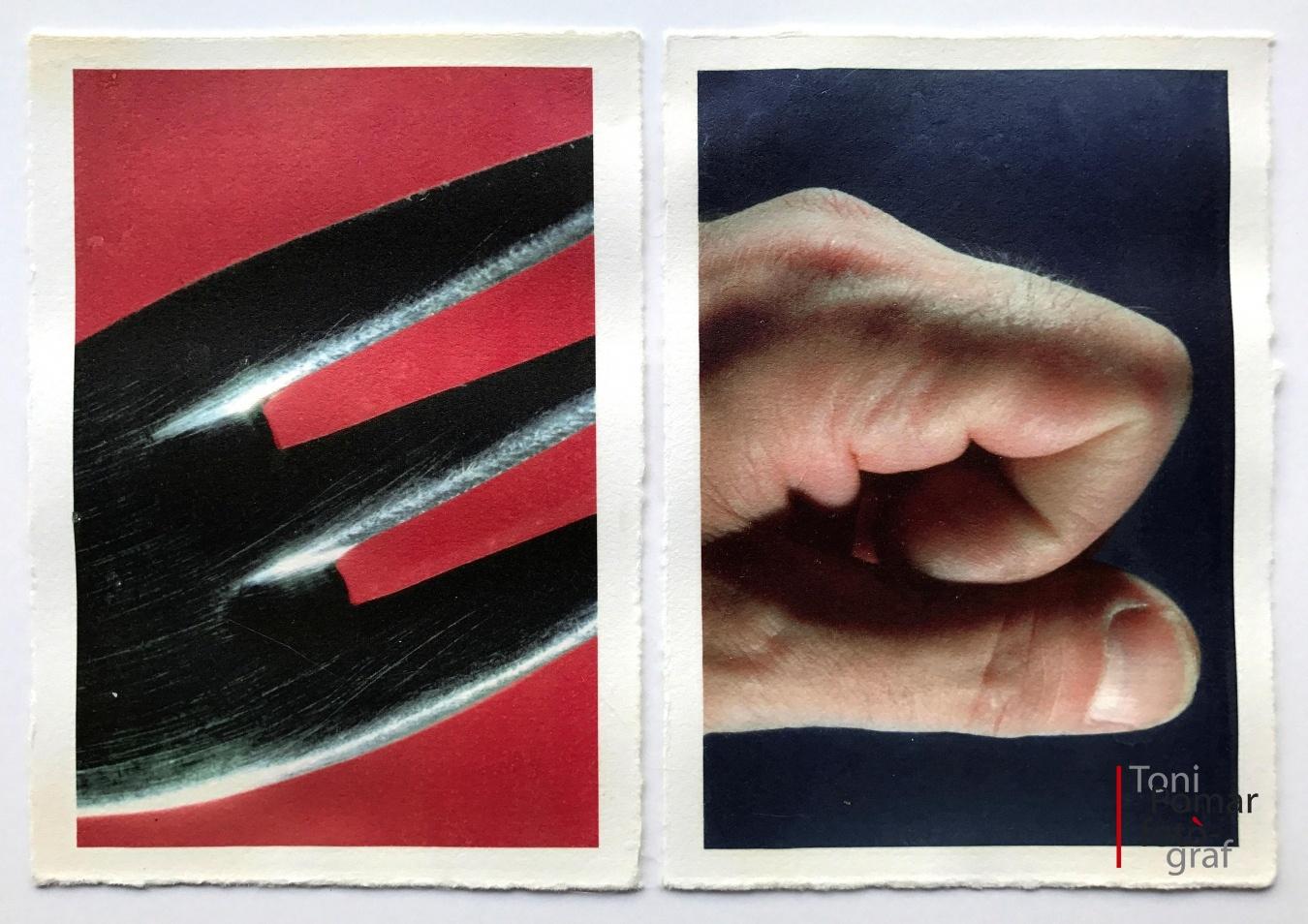 E - Fragmet de forquilla | e - La meva mà - Alfabet - Toni Pomar. Alfabet