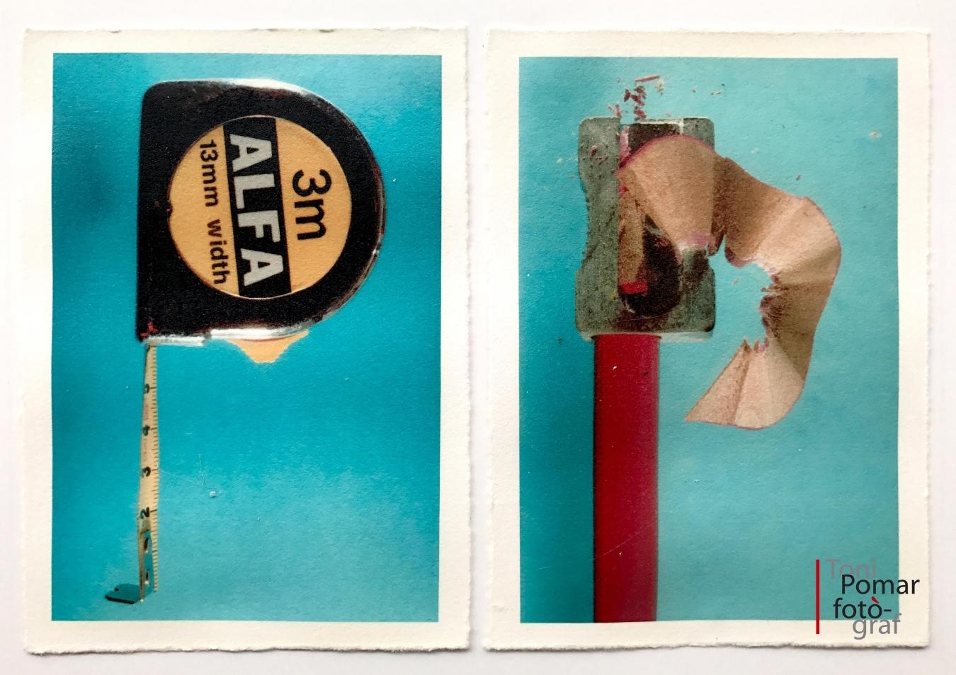 P - Flexòmetre de tres metres   p - Llapis i maquineta de fee punta - Alfabet - Toni Pomar. Alfabet
