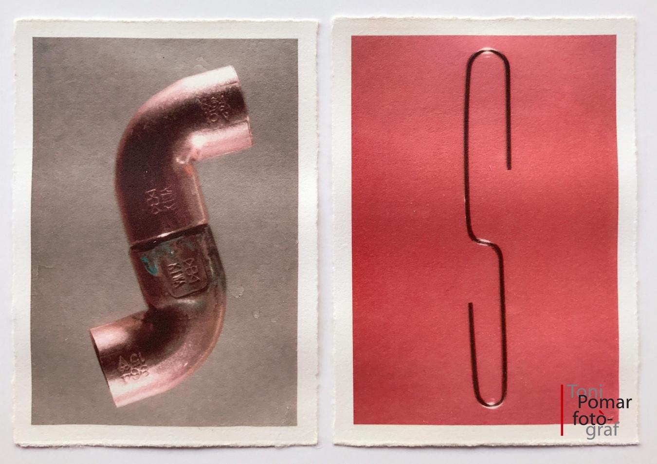 S - Colzes de tub de coure de 15 mm  | s - Clip desdoblegat  - Alfabet - Toni Pomar. Alfabet