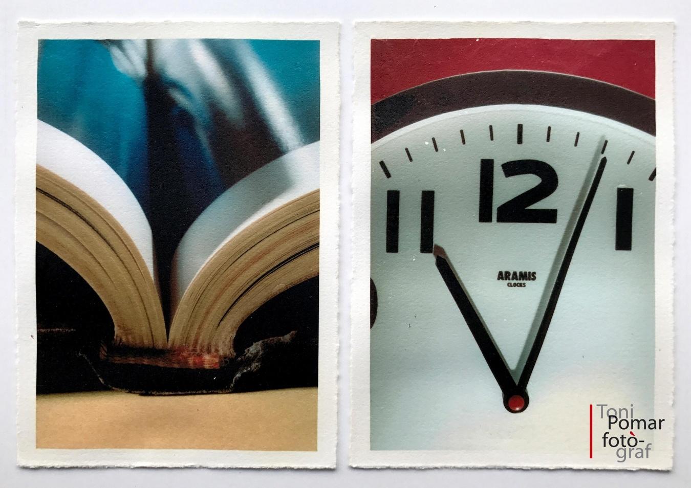 V - Llibre obert a la plana 130 | v - Rellotge de paret - Alfabet - Toni Pomar. Alfabet