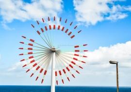 Wind generator. Eolic wheel. La Palma.