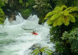 Rafting en Okere Falls, Rotorua, Bay of Plenty