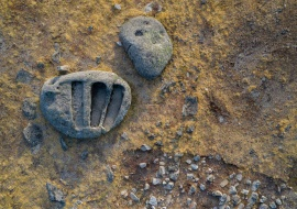 Granitic triple grave
