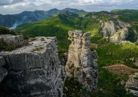 Agujas de roca en la Serra de Vandellòs