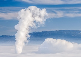 Thermal inversion. Ascó Nuclear Power Plant