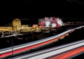 L' Almadrava fireworks and Vandellòs II Nuclear Power Plant