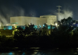 Ascó Nuclear Power Plant and Ebro River