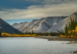Taiga Range. Ogilvie River Valley. Dempster Highway