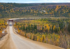 Eagle River Bridge. Dempster Highway.
