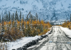 Hard and cold Dempster Highway