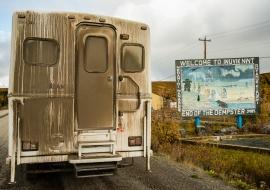 Inuvik. Al norte de la Dempster Highway. Northwest Territories