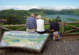 King's viewpoint. Sete Cidades. Sao Miguel Island