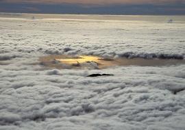 Mar de nubes desde el Teide