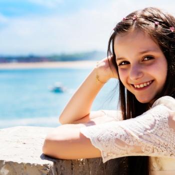 Reportaje de primera comunión en exterior Santander